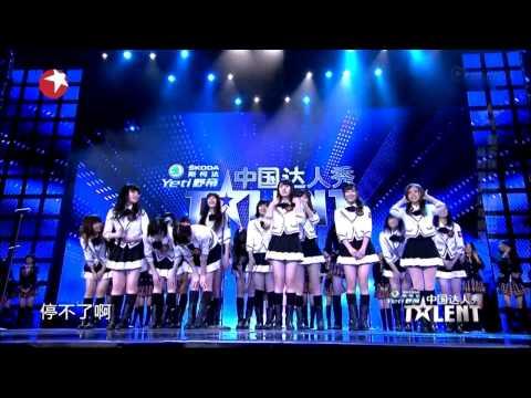 2013-12-15 SNH48 On China's Got Talent 《无尽旋转》 (ヘビーローテーション)