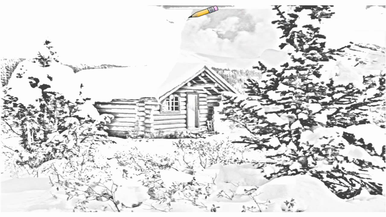 Auto Draw 2 Cozy Log Cabin Mount Assiniboine British Columbia Canada