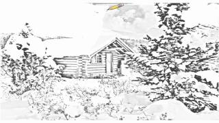 Auto Draw 2: Cozy Log Cabin, Mount Assiniboine, British Columbia, Canada