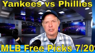 MLB Picks and Predictions | Yankees vs Phillies Betting Preview | The Predictive Playbook | July 20