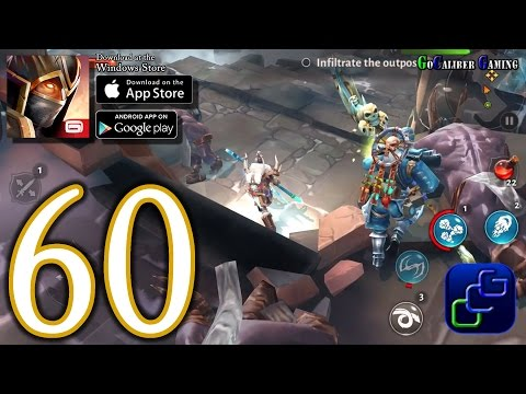 Dungeon Hunter 5 Android IOS Walkthrough - Part 60 - NEW Update Northern Storm 52-53