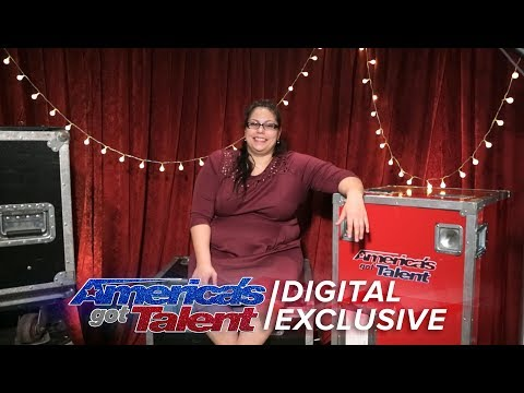 Aileen George Talks Pole Dancing With Howie Mandel - America's Got Talent 2017