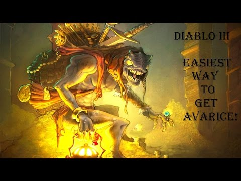Diablo 3 Easiest Way To Get Avarice! 95 Million Gold 1 Run!!