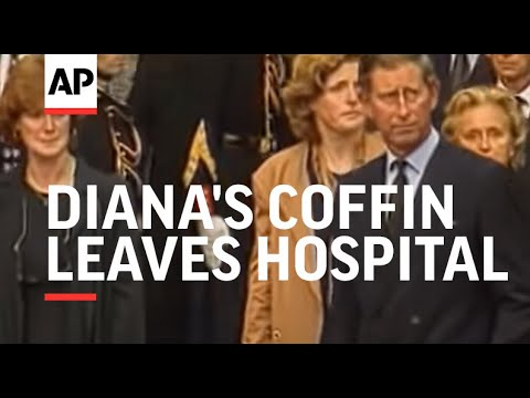 France - Diana's coffin leaves hospital for London