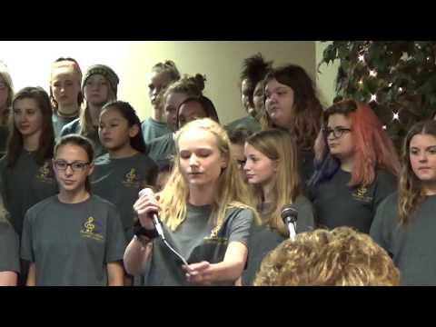 Chickasha Middle School Choir at Rotary 12-6-2018