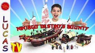 Lego Ninjago Movie Destiny's Bounty 2017! Lego Set 70618 Detailed Lego Review! Boat and Minifigures