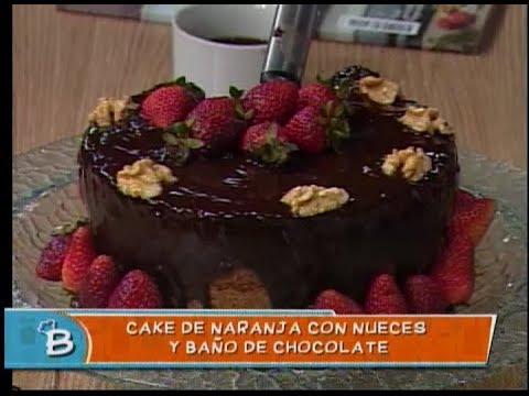 Cake de Naranja con nueces y baño de chocolate