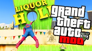 "GTA 5 PC Mods - ""SPIDERMAN MOD!"" Playing As Spiderman Grapple Hook & Superhero Mod! (GTA V PC Mod)"