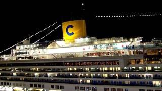 Costa Magica e Costa Pacifica si salutano a Civitavecchia - Costas Horn Battle