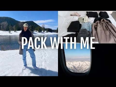 VLOG: pack aritzia outfits with me + traveling to Wyoming!