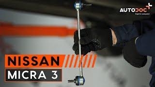 Reemplazar Tirante barra estabilizadora NISSAN MICRA: manual de taller
