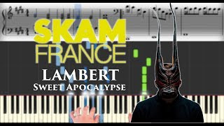 Lambert - Sweet Apocalypse (Skam France) | Sheet Music & Synthesia Piano Tutorial