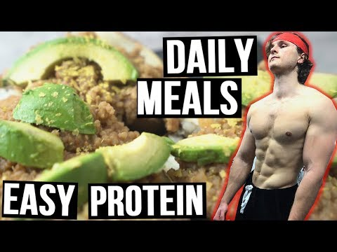 What I Eat On A Busy Day To Gain Muscle (VEGAN BULK)