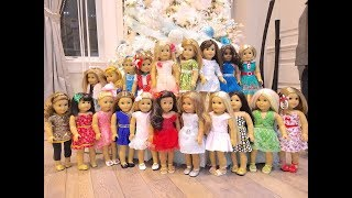Dressing My American Girl Dolls for Christmas ~ 2017