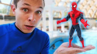 Игры с супергероями– Человек Паук в Аквапарке! – Новый сборник видео для мальчиков Акватим