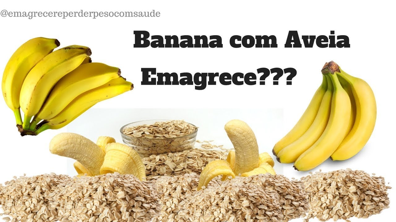 Dieta de banana com aveia