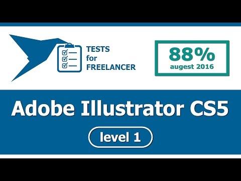 Freelancer - Adobe Illustrator CS5 - level 1 - test (88%)