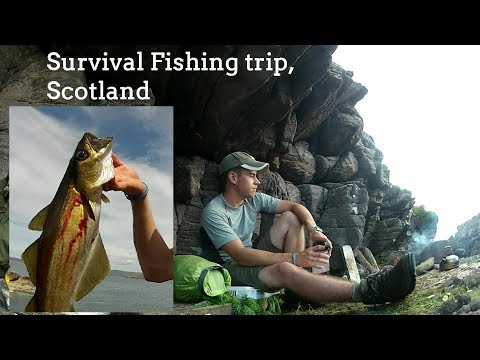 Solo Survival Fishing Trip. Scotland (sleeping In A Cave, Wild Swimming And Foraging)