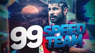 FIFA 19 - LA TEAM LA PLUS RAPIDE DU JEU AVEC 99 DE VITESSE EN FUT CHAMPION 😍😍