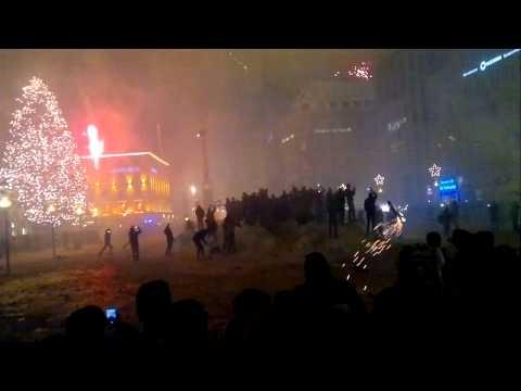 Marienplatz, Munich, New Year Fireworks