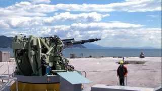127/64 LW Vulcano naval gun system Oto Melara