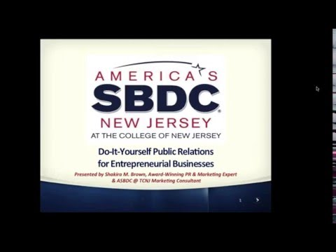 Do It Yourself Public Relations Small Business Tips America's Small Business Development Center TCNJ