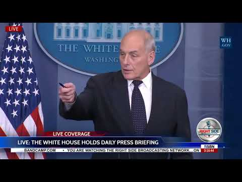 FULL: John Kelly Stirring Defense of President Trump in Emotional White House Briefing 10/19/17