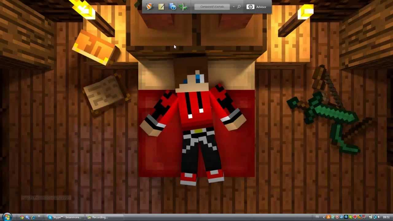Tuto Faire Un Fond écran Minecraft Avec Son Skin