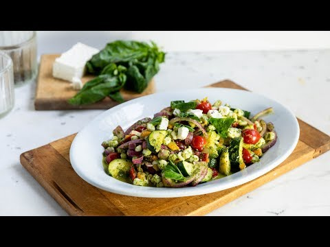 grilled-zucchini-+-onions-with-basil-dressing