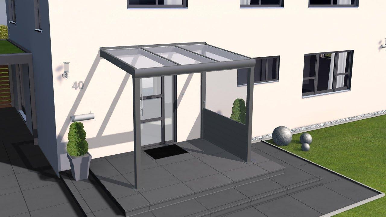 haust r vordach einfach konfigurieren mit 3d konfigurator. Black Bedroom Furniture Sets. Home Design Ideas