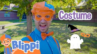Blippi's Search for His Halloween Costume!   Fun Halloween Videos For Kids