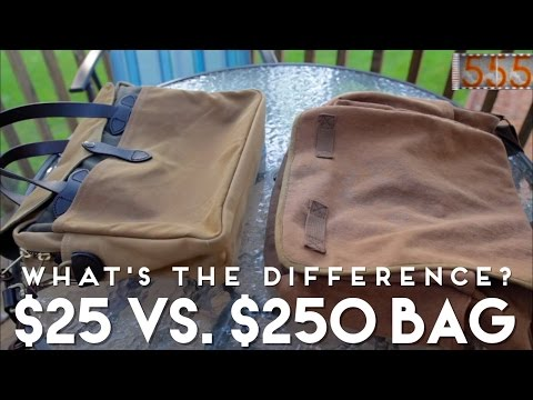 $25 vs. $250 Men's Bag: What's the Difference? Filson Briefcase and Rothco Messenger Bag Comparison