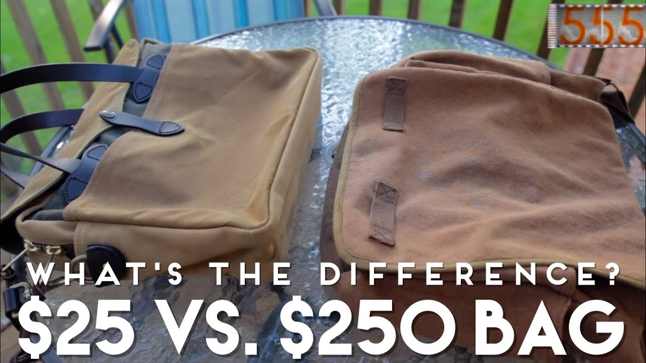 25 vs.  250 Men s Bag  What s the Difference  Filson Briefcase and Rothco Messenger  Bag Comparison - YouTube 8b62c25d9ba17