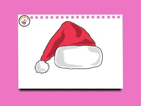 Christmas Hat Drawing Easy.How To Draw An Amazing Christmas Easy Tutorial Myhiton