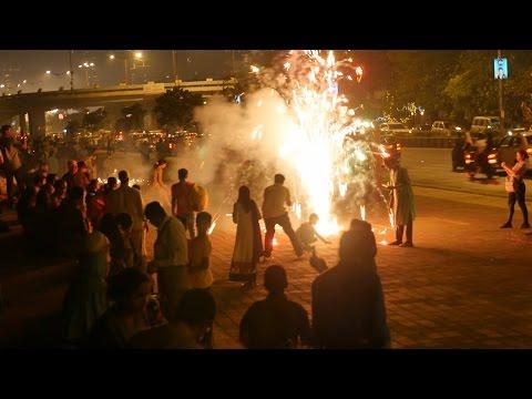 Diwali Cele Tion At Nariman Point Mumbai Fire Ers At Marine Drive India Happy Deepavali