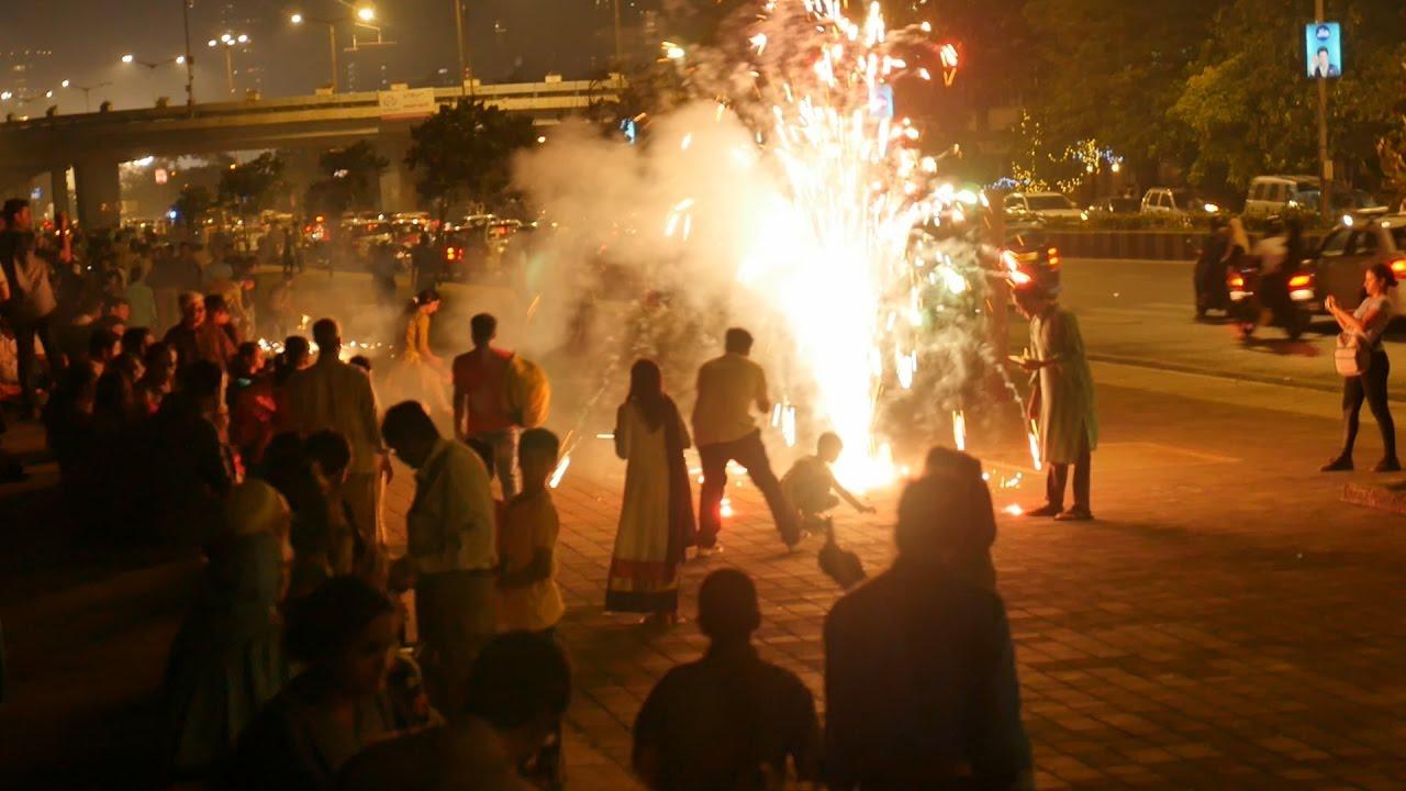 Diwali Pataka And Festival Celebration: Diwali Celebration At Nariman Point,Mumbai 2016.Fire