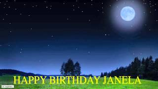 Janela  Moon La Luna - Happy Birthday