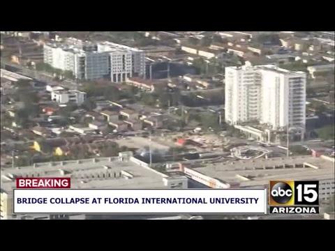 NOW: Florida International University bridge collapses