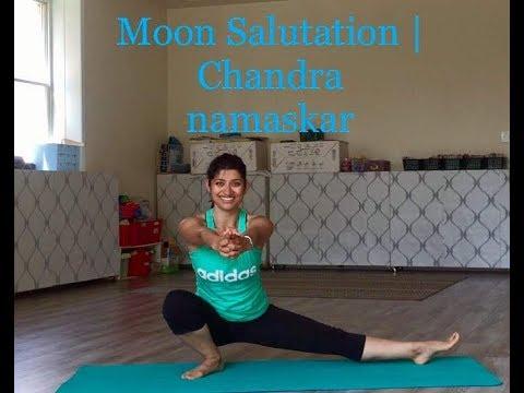 moon salutation  chandra namaskar  shakti yoga with