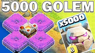 5000 GOLEM ATTACK! LARGEST ATTACK IN HISTORY! - Clash of Clans