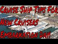 Cruise Ship Embarkation Day Tips New Disney River Cruises and What's Up With Titanic ll