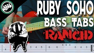 Rancid - Ruby Soho | Bass Cover With Tabs in the Video