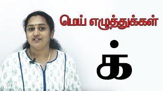மெய் எழுத்துக்கள்   Tamil Mei Ezhuthukkal   Learn Tamil Alphabets   Preschool Education