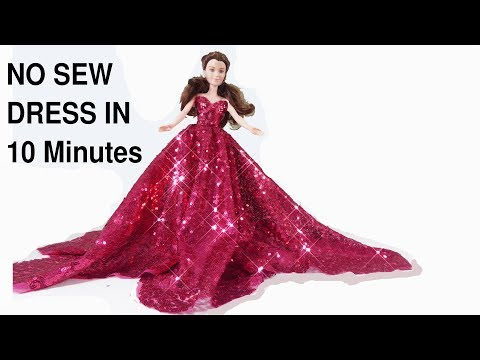 how-to-make-no-sew-barbie-doll-dress/wedding-party-gown