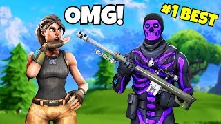 he's the MOST UNDERRATED trickshotter and streamer on fortnite... (best fortnite sniper)