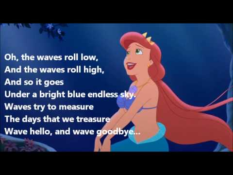 The Little Mermaid Ariel's Beginning Athena's Song (Lyric Video)