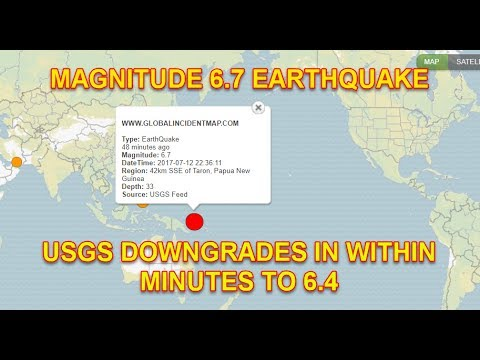 MAGNITUDE 6.7 EARTHQUAKE IN PAPUA NEW GUINEA JULY 13th, 2017