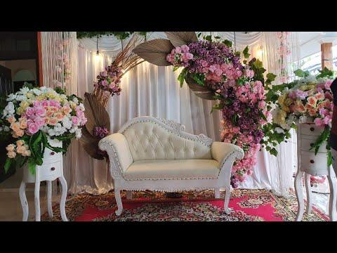 konsep simpel dekorasi akad nikah (dekorasi modern) - youtube