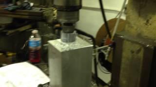 Face milling an aluminum welding fixture