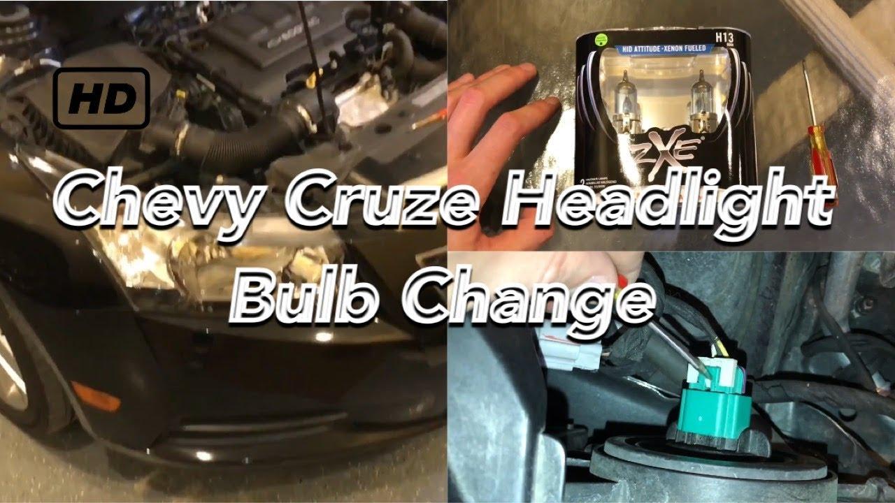 Chevy Cruze headlight bulb change 2008-2016